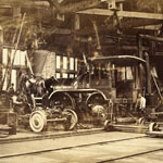 Photo de la locomotive TREVITHICK en construction