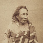 Photograph of Mistahi Maskwa, also known as Big Bear, a Plains Cree chief who participated in the North West Rebellion of 1885, Regina, Saskatchewan, 1885