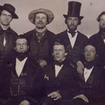 Photograph of a group of merchants, Yarmouth, Nova Scotia, 1855