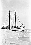 """Photograph: The RCMP vessel """"St. Roch"""" in the ice"""