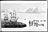 Image: First communication with the Native people of St. Regents Bay, showing Englishmen poorly dressed for the Arctic conditions