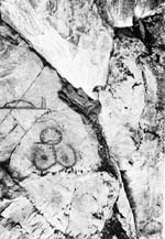 Photograph: Native pictographs from British Columbia