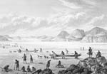Image: Franklin's expedition passing through Point Lata on the ice