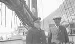 Photograph: Captain Joseph-Elzéar Bernier and Nu-Kood-lah on board the 'Arctic'