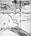 "Section of a map: from ""A Map of the North West Parts of America...,"" by Alexander Henry, [1775-1776]"