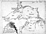 "Map: ""Lac superieur…,"" by the Jesuits Dablon and Allouez, [1672]"