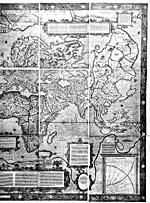 """Map: """"Nova et Aucta Orbis Terrae Descriptio ad usum Navigantium…,"""" by Gerard Mercator, 1569"""
