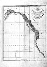 Carte : « A Chart Shewing Part of the Coast of N.W. America... » de George Vancouver, 1798-1801