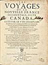 Élément graphique : Page de titre du récit de Champlain publié en 1632