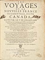 Image: Title page of Champlain's 1632 account