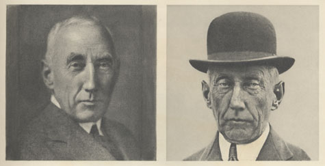 Photograph: Amundsen before and after a later trip in the Arctic