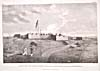 Drawing: View of Prince of Wales Fort by Samuel Hearne, 1777