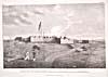 Dessin : Vue nord-ouest du fort Prince-de-Galles dans la baie d'Hudson, par Samuel Hearne, 1777