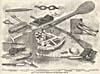 Dessin : Articles retrouvés enfouis avec les corps de l'équipage de John Franklin