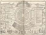 Graphical element: Map of Iroquois village of Hochelaga, 1556