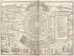Élément graphique : Carte du village iroquois d'Hochelaga dessinée en 1556