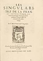 Image: Page de titre du récit des voyages de Cartier écrit par Thévet