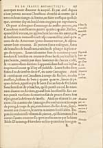 Image: Page tirée du récit des voyages de Cartier écrit par Thévet