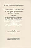 """Image: Title page of Thwaites' translation of the Jesuit """"Relations"""""""