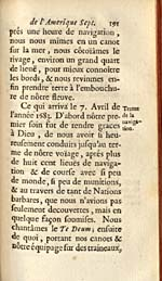 Image: Page from de Tonti's account of La Salle's voyages