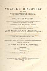 Image: Title page of Vancouver's account of his 1790-1795 voyage