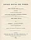 Image: Page de titre du récit qu'a écrit Lisiansky de son voyage de 1803-1806