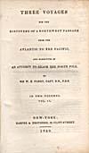 Élément graphique : Page de titre du récit qu'a écrit Parry de ses voyages