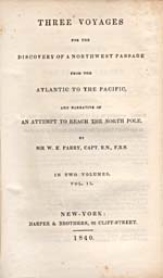 Image: Title page of Parry's account of his voyages