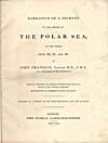 Élément graphique : Page de titre du récit qu'a écrit Franklin de son voyage de 1819-1821