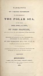 Image: Title page of Franklin's account of his second voyage