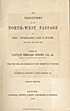 Image: Title page of McClure's account of his 1850-1854 voyage