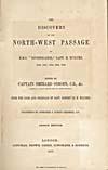 Élément graphique : Page de titre du récit qu'a écrit McClure de son voyage de 1850-1854