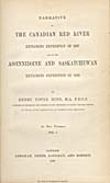 Élément graphique : Page de titre du récit qu'a écrit Hind de ses voyages de 1857 et de 1858