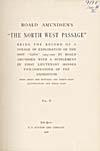 Élément graphique : Page de titre du récit qu'a écrit Amundsen