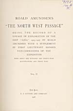 Image: Title page of Amundsen's account