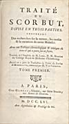 Élément graphique : Page de titre de the French translation of Lind's Treatise on the Scurvy