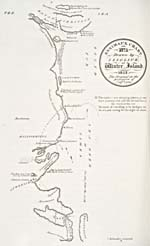Map: 'Eskimaux Chart No.1 Drawn by Iligliuk at Winter Island, 1822,' by Iligliuk