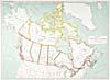 """Carte : """"Canada's Territorial Divisions,"""" 1915"""