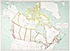 "Map: ""Canada's Territorial Divisions,"" 1915"