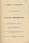 Image: Page de titre du récit de Thompson publié par Tyrrell