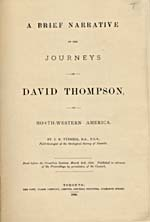 Image: Title page of Tyrrell's publication of Thompson's narrative