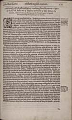 Image: Page from Hakluyt's account of the Cabots' voyages