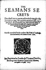 "Image: Title page of ""Seaman's Secrets,"" by John Davis"