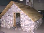 Photograph: Reconstruction of Frobisher's cottage in Arctic