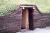 Hutte de terre semblable à celles qu'utilisaient les Vikings de Vinland
