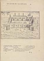 Copper engraving entitled ABITASION DU PORT-ROYAL