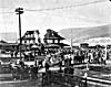 Photo of the first passenger train at Penticton, British Columbia. Kettle Valley Railway, May 31, 1915
