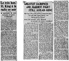 "Press clippings concerning the broadcast, ""Four Years of War"", September 10, 1944."