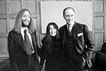 John Lennon and Yoko Ono with Prime Minister Pierre Trudeau, December 22, 1969.