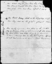 Alexander Mackenzie's notes on his marriage to Helen Neil, written, following her death in 1852, on the back of their marriage certificate.